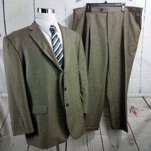 Perry Ellis Portfolio Light Brown 2pc Suit 44W